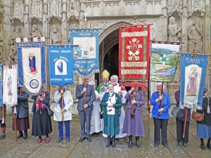 After the Commissioning service at Exeter Cathedral 2016